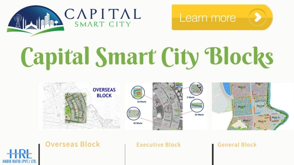 Capital Smart City Islamabad Overseas Block | Executive Block | General Block