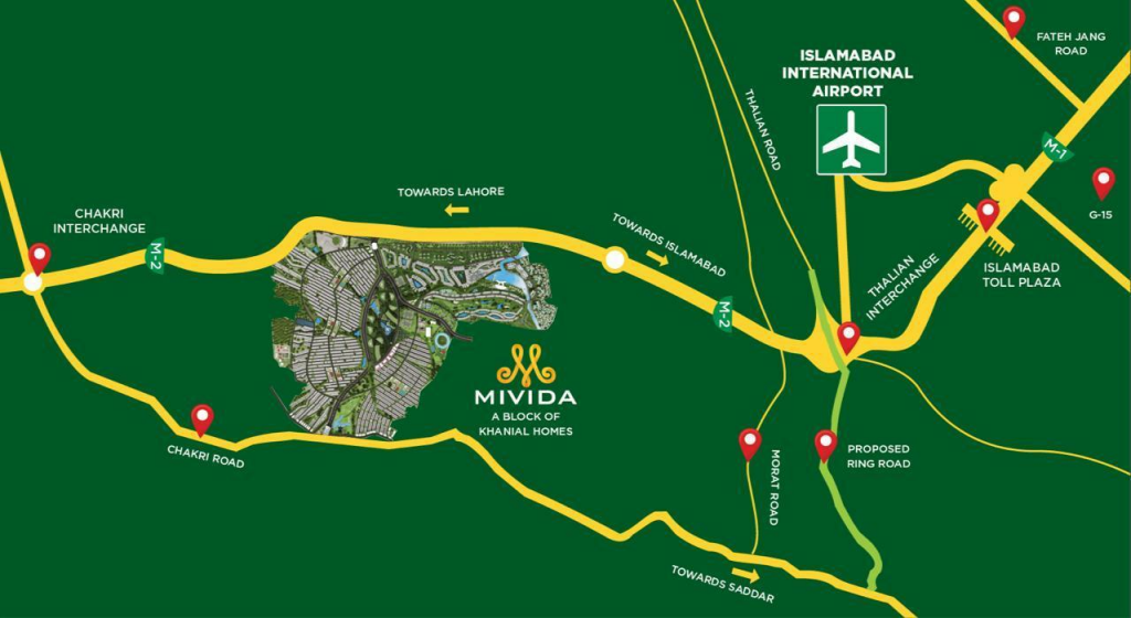 Mivida PAkistan Location map