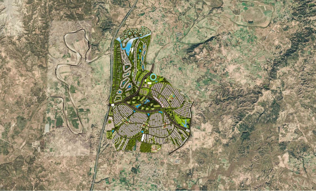 Mivida City ISlamabad pakistan Master Plan at Google Earth